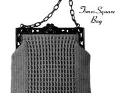 "Vintage Crochet Pattern 1930's Gimp Purse Pattern ""The Times Square"" -INSTANT DOWNLOAD-"
