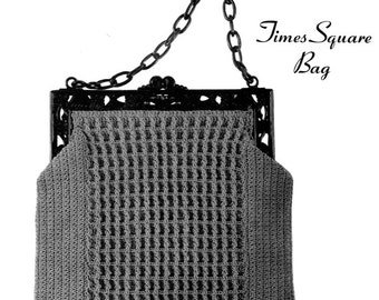 "Vintage Crochet Pattern 1930's Gimp Purse Pattern ""The Times Square"" -INSTANT DOWNLOAD-"