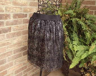 Holiday skirt steampunk-soft netting with silver stars--Creat your own beautiful outfit