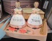 Enesco Vintage kitchen prayer salt & pepper shakers