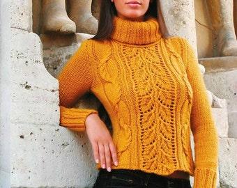 A beautiful handmade knitted winter sweater