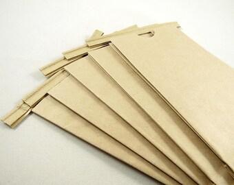 25 Kraft Tin Tie Coffee Bags - 1/2 Pound - 3 3/8 x 2 1/2 x 7 3/4