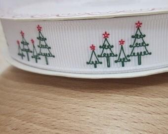 3 metres White Christmas Tree Grosgrain Ribbon