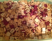 Mixed Scrabble Tiles for Crafting