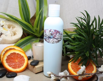 1 Step All-In-One Hair Cleanser / Conditioner 8 oz - Spearmint Breeze - No Sulphates, No Parabens, No Stripping Detergents