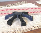 Vintage Dansk  like cast iron black spider candleholder - made by Viking Craft holds 12 candles