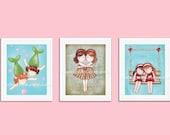 Sisters wall art, baby girl nursery decor, nursery art, girls room art, girls wall art, kids room decor, twin art, set 3 prints