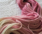 Raspberry White Chocolate.  Handpainted Merino Yarn 3 ply Worsted Weight