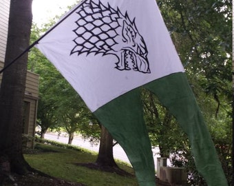Stark Game Of Thrones Banner Flag Swallow Tail