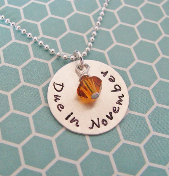 custom due date necklace