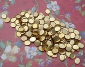 Brass 8x6mm Oval 1mm Low Wall Closed Back Bezel Settings for Flat Back Cabs or Jewels (24 pieces)