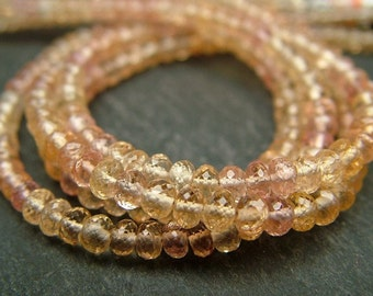 """Imperial Topaz Rondelles, AA-AAA, Faceted, 3-3.25mm - 8.5"""" Strand (CG6415E)"""
