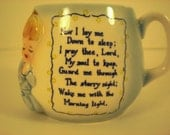 Vintage Child's Prayer Mug