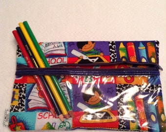 School Theme pencil case. Party Favor