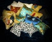 Three Small Organic Catnip Pillows: Surprise Pack