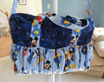 Quilted Diaper Bag (Blue)