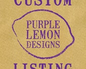 "Reserved Listing for Haley Wright  (One 1.5"" custom wooden handled stamp)"