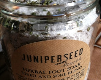 Herbal Foot Soak for Tired and Sore Feet - 8 ounce glass jar