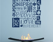 Wish Big Wall Decal Quote - Vinyl Text Wall Words Stickers Art