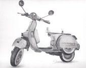 Vespa Original Drawing