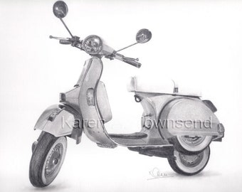 Vespa Original Drawing