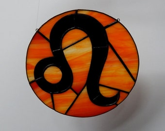 Leo Zodiac Sign - Stained Glass