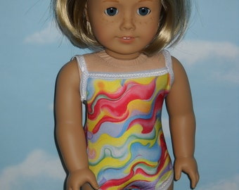 18 inch Doll Swimsuit  Handmade Multi Colored