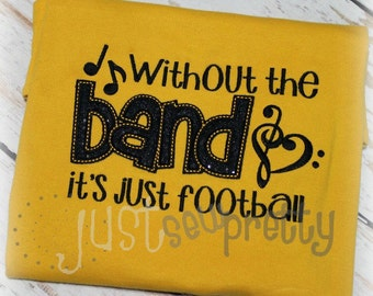 Without The Band Just Football Embroidery Applique Design