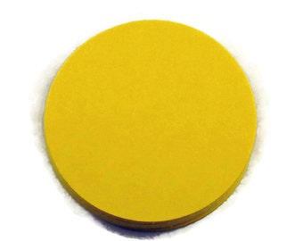Two Inch Die Cut Paper Circles  2 inch Circles in  Sunny Yellow