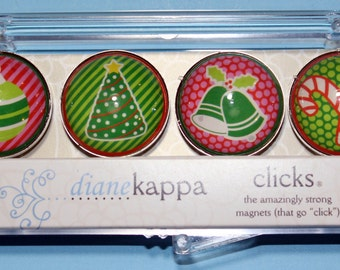 4 Pack of Amazingly Strong Magnets with Iconic Christmas