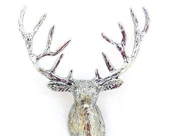 Pewter Deer Head Mount