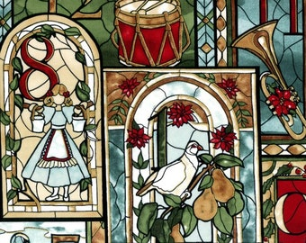 Clearance Sale - Stained Glass Twelve Days of Christmas (Gold) - L7329-129G