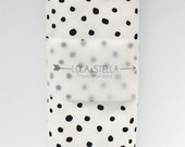 Organic baby blanket in black and white polkadot, organic crib blanket, organic swaddle blanket, organic baby blanket, baby blanket, swaddle