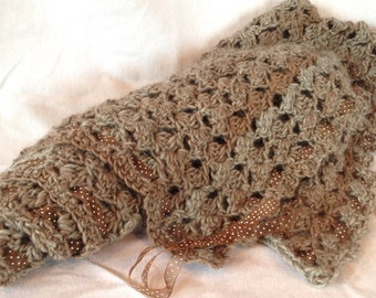 Crochet Pattern Baby Blanket Retro Dots Easy DIY