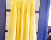 Vintage 60's Yellow Striped Skirt Large