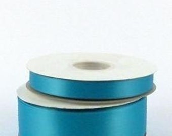 "3/8"" x 100 yards Double Face Satin - TURQUOISE"