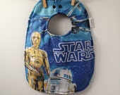 Baby Bib from Vintage Star Wars Sheets - C3PO and R2D2