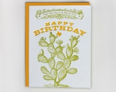 Hope your day is as big as texas, Happy Birthday - letterpress greeting card