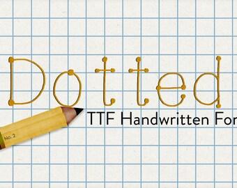 alphabits - dotted ttf font
