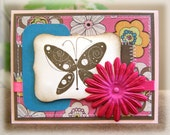Antique Butterfly All Occasion Birthday Thinking of You Greeting Card