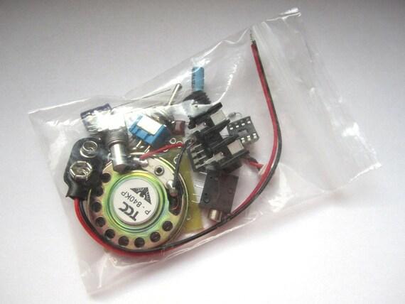 DIY Kit: Portable Guitar Amp, Headphone Amp, MP3 Amp w/ Speaker, Volume Control, & 10X Gain