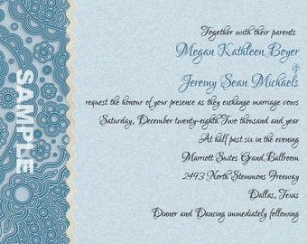 Geometric PaisleyWedding  Invitations