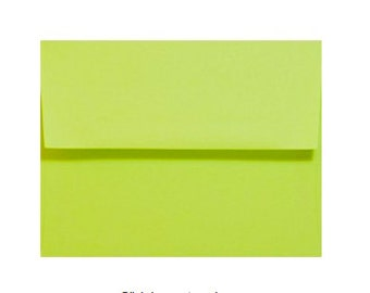 Lime Green Envelopes - Set of 25 Lime A7 Envelopes - Perfect for 5x7 Photos and Cards