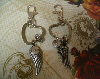 Key Chains Believe in Angels for Friends or Sister Friends