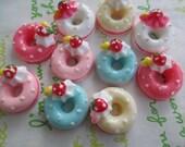 Colorful  Doughnut cabochons 5pcs 5 colors