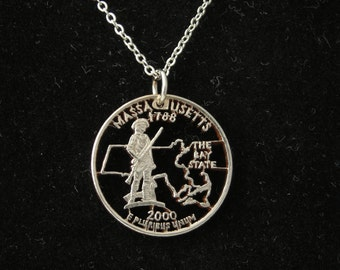 Massachusetts statehood Quarter Necklace