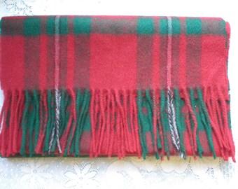 SCARF 100%  Lambs Wool Clans Scotland Plaid Vintage Retro Unisex