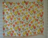 SALE - Bright tulip curtain set with pom pom trim
