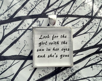 Lucy in the Sky With Diamonds by The Beatles  Song Lyric Pendant