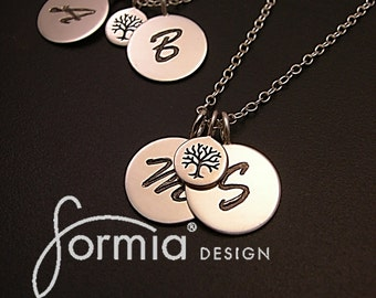 Tree of life necklace with initial charms